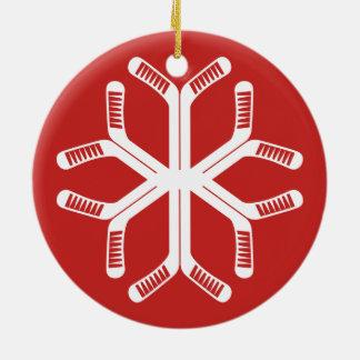 Ornement Rond En Céramique Décoration de vacances de flocon de neige de