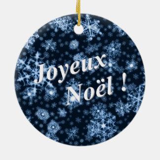"""Ornement Rond En Céramique Décoration neige """"Joyeux Noël"""""""