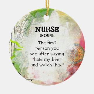 Ornement Rond En Céramique Définition d'une infirmière