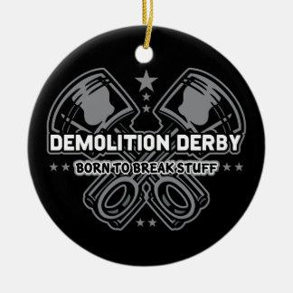 Ornement Rond En Céramique Démolition Derby soutenu pour casser la substance