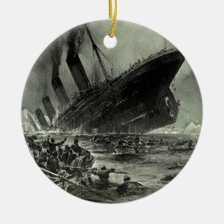 Ornement Rond En Céramique Descente titanique