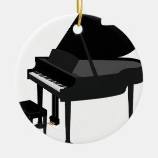 Ornement Rond En Céramique Dessin de piano à queue
