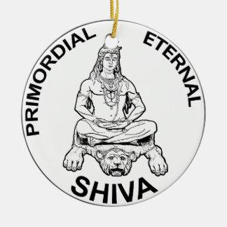 Ornement Rond En Céramique Dieu éternel de seigneur Shiva et indien