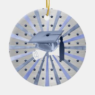 Ornement Rond En Céramique Diplôme de casquette d'obtention du diplôme de