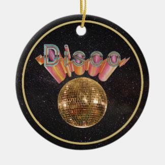 Ornement Rond En Céramique Disco la nuit partie