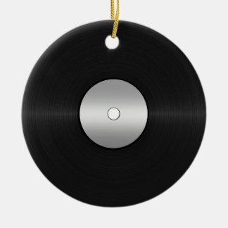 Ornement Rond En Céramique Disque de LP de Vinyle-Regard