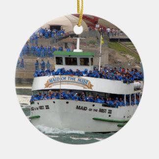 Ornement Rond En Céramique Domestique du bateau de brume : Chutes du Niagara