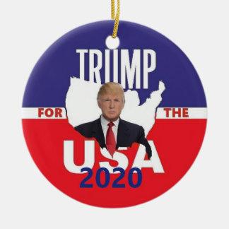 Ornement Rond En Céramique Donald Trump 2020