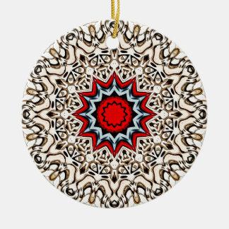Ornement Rond En Céramique Douze points de mandala