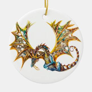 Ornement Rond En Céramique Dragon dans l'ornement de ciel