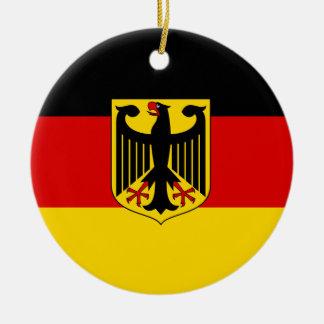 Ornement Rond En Céramique Drapeau allemand