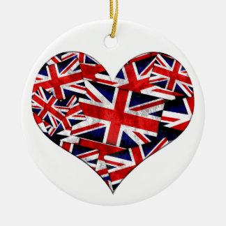Ornement Rond En Céramique Drapeau britannique d'Union Jack Angleterre R-U