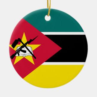 Ornement Rond En Céramique Drapeau de la Mozambique
