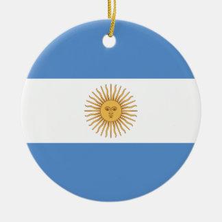 Ornement Rond En Céramique Drapeau de l'Argentine