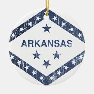 Ornement Rond En Céramique Drapeau de l'Arkansas