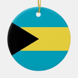 Ornement Rond En Céramique Drapeau des Bahamas