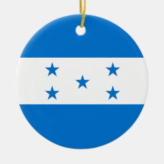 Ornement Rond En Céramique Drapeau du Honduras