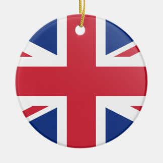 Ornement Rond En Céramique Drapeau du Royaume-Uni
