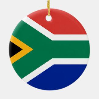 Ornement Rond En Céramique Drapeau national sud-africain