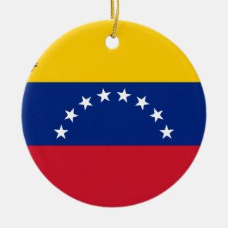 Ornement Rond En Céramique Drapeau vénézuélien - drapeau du Venezuela - le