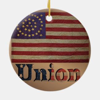 Ornement Rond En Céramique Drapeau vintage des syndicats des Etats-Unis