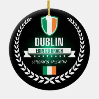 Ornement Rond En Céramique Dublin