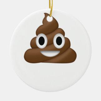 Ornement Rond En Céramique Dunette mignonne Emoji