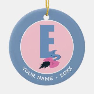 Ornement Rond En Céramique E est pour Eeyore   ajoutent votre nom