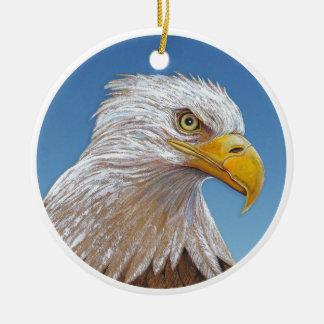 Ornement Rond En Céramique Eagle