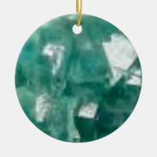 Ornement Rond En Céramique éclat vert des bijoux