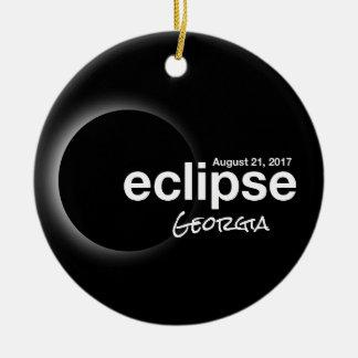 Ornement Rond En Céramique Éclipse solaire totale 2017 - la Géorgie