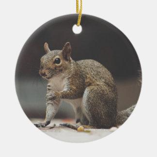 Ornement Rond En Céramique écureuil