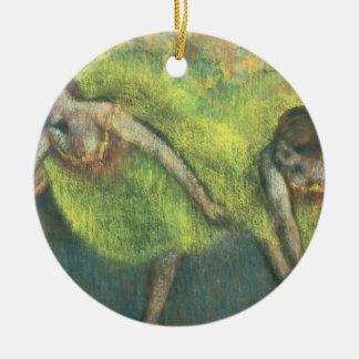 Ornement Rond En Céramique Edgar Degas | détente de deux danseurs