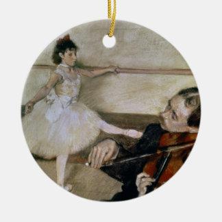 Ornement Rond En Céramique Edgar Degas | la leçon de danse, c.1879