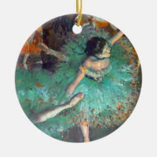 Ornement Rond En Céramique Edgar Degas - les danseurs verts - danse de ballet