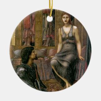 Ornement Rond En Céramique Edouard - le Roi Cophetua et la domestique de