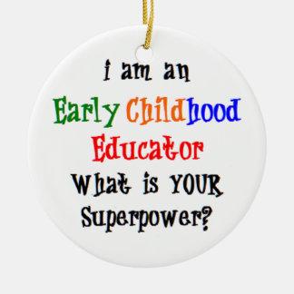 Ornement Rond En Céramique éducateur de petite enfance