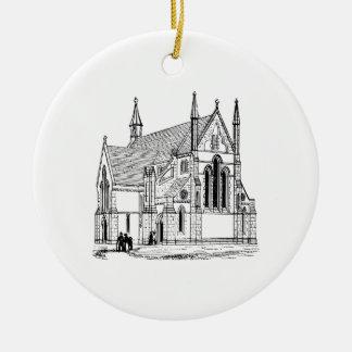 Ornement Rond En Céramique Église