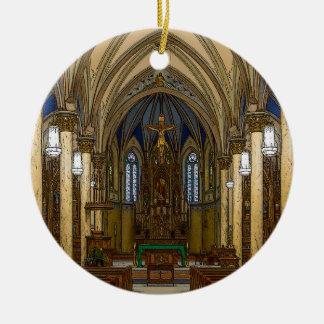 Ornement Rond En Céramique Église catholique de St Peter Painterly