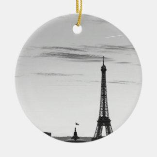 Ornement Rond En Céramique Eiffel Tower, France