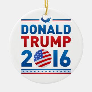 Ornement Rond En Céramique Élection présidentielle de DONALD TRUMP 2016