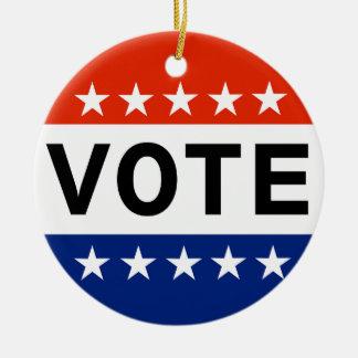 Ornement Rond En Céramique Élections à moyen terme du vote 2018