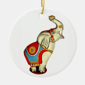 Ornement Rond En Céramique Éléphant de cirque