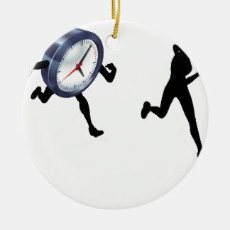 Ornement Rond En Céramique Emballage contre le temps