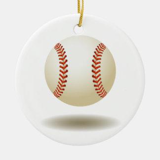 Ornement Rond En Céramique Emblème frais de base-ball