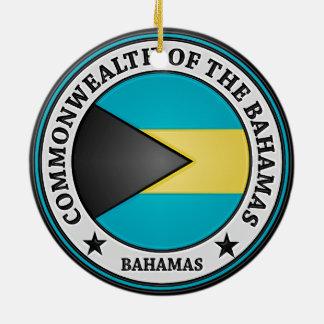 Ornement Rond En Céramique Emblème rond des Bahamas