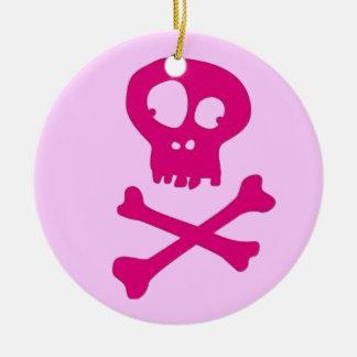 Ornement Rond En Céramique En rose pour Halloween -
