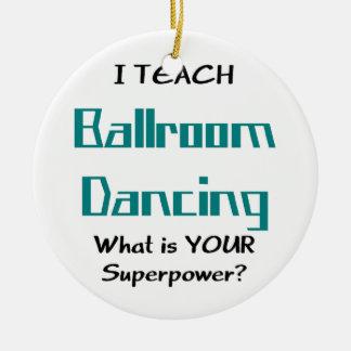 Ornement Rond En Céramique enseignez la danse de salle de bal