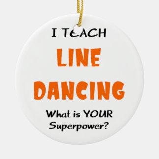 Ornement Rond En Céramique enseignez la ligne danse