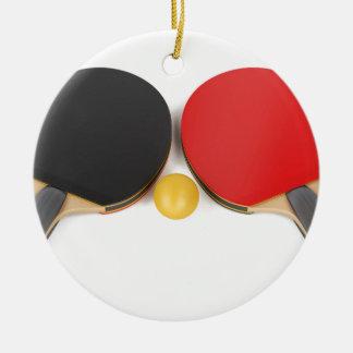 Ornement Rond En Céramique Équipement de ping-pong